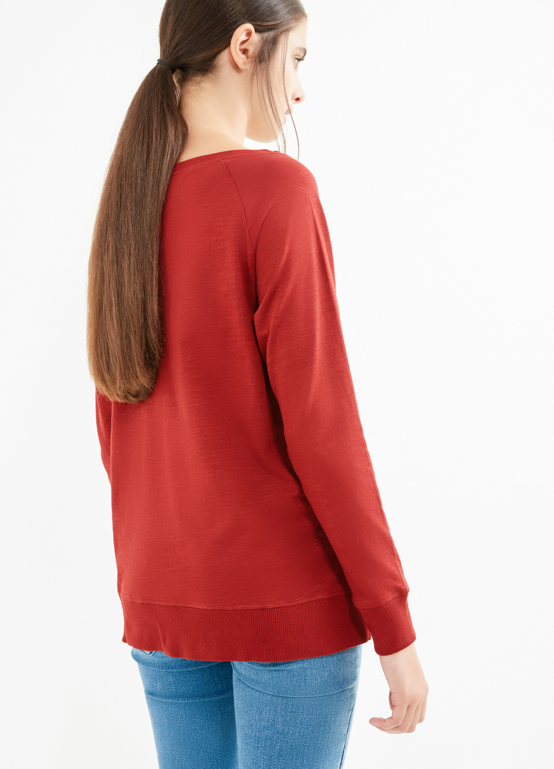 Solid colour T-shirt with splits image number null