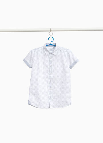 100% cotton shirt with polka dots and stripes