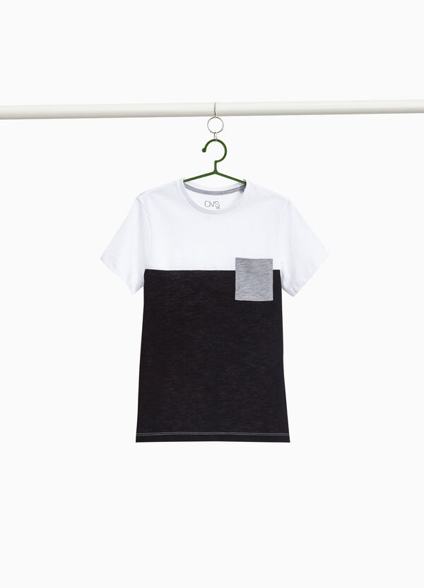 Two-tone 100% cotton T-shirt