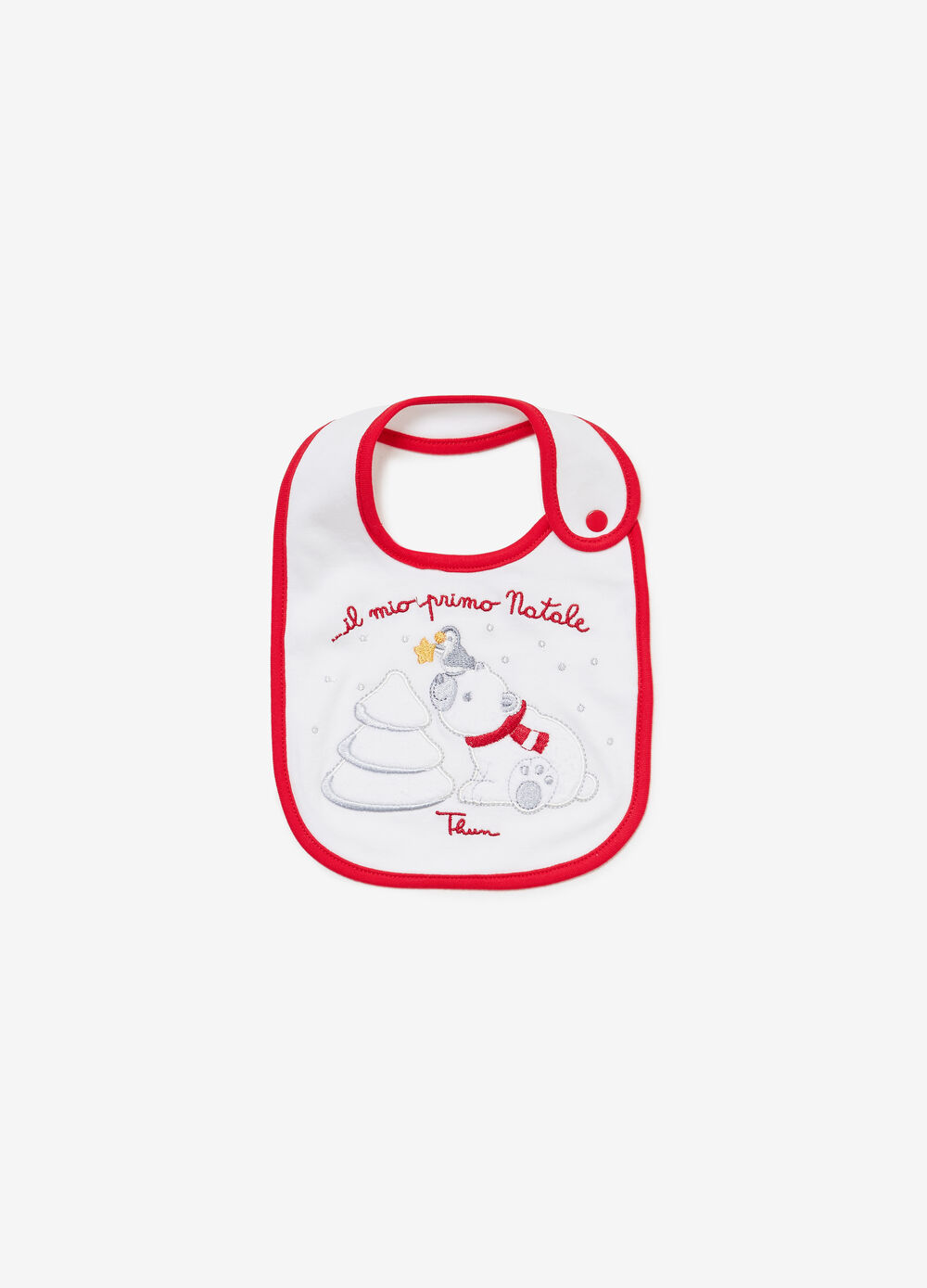 THUN polar bear 100% organic cotton bib