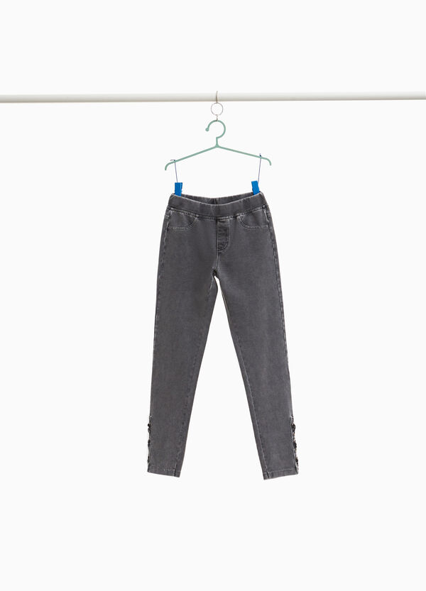Jeggings with eyelets and laces