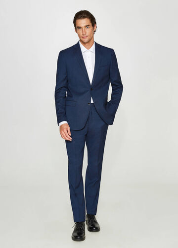 Regular-fit suit with lapels