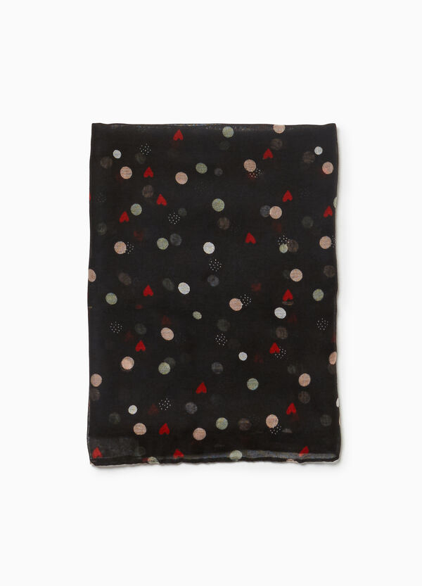 Hearts and polka dot scarf