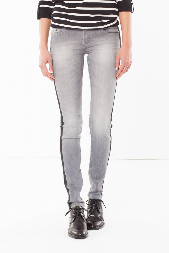 Jeans skinny fit con fasce laterali