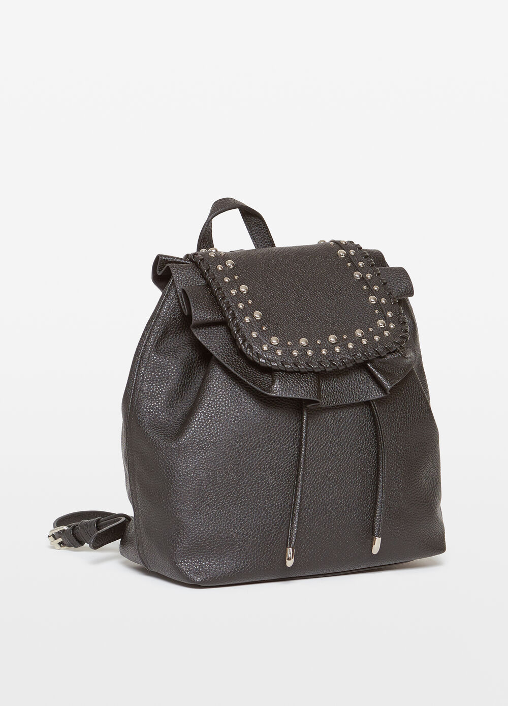 Backpack with ruches studs