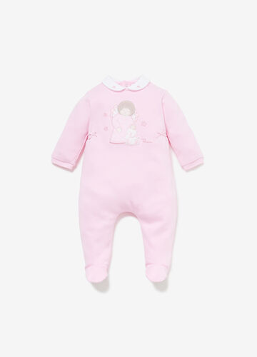 THUN romper suit in 100% cotton with patch