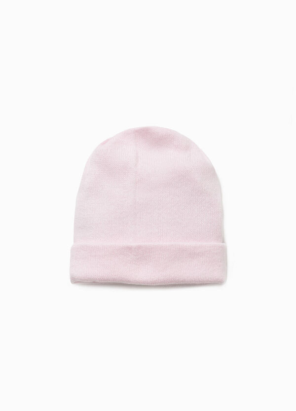 Solid colour cotton beanie