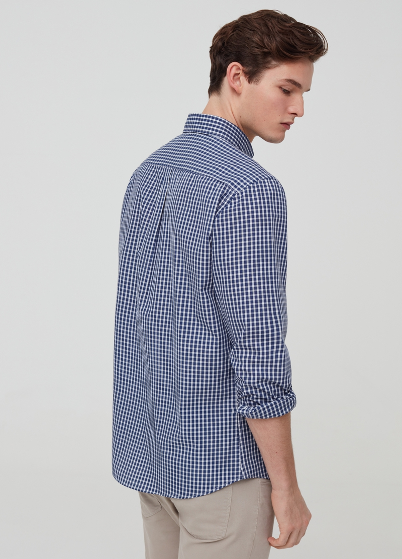 Check button-down shirt image number null
