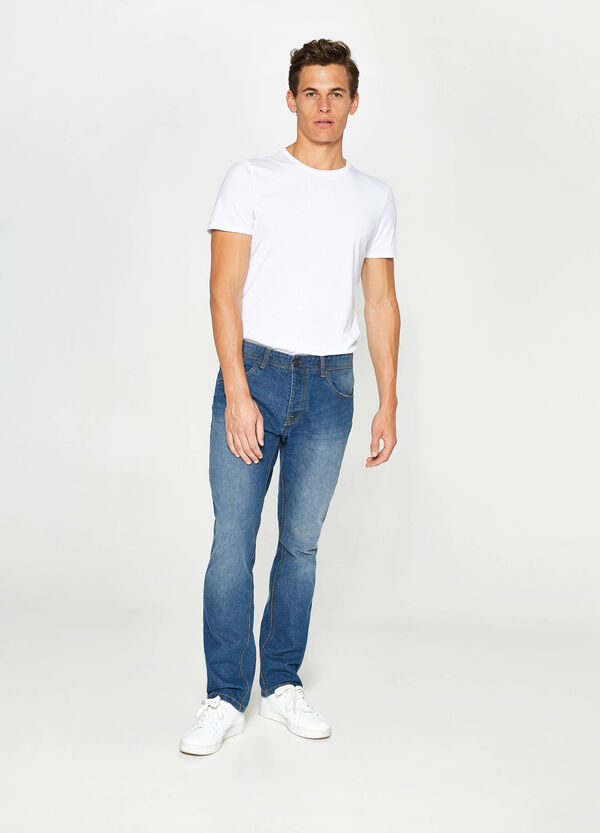 Jeans regular fit used con scoloriture | OVS