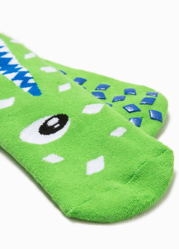 Crocodile embroidered slipper socks | OVS