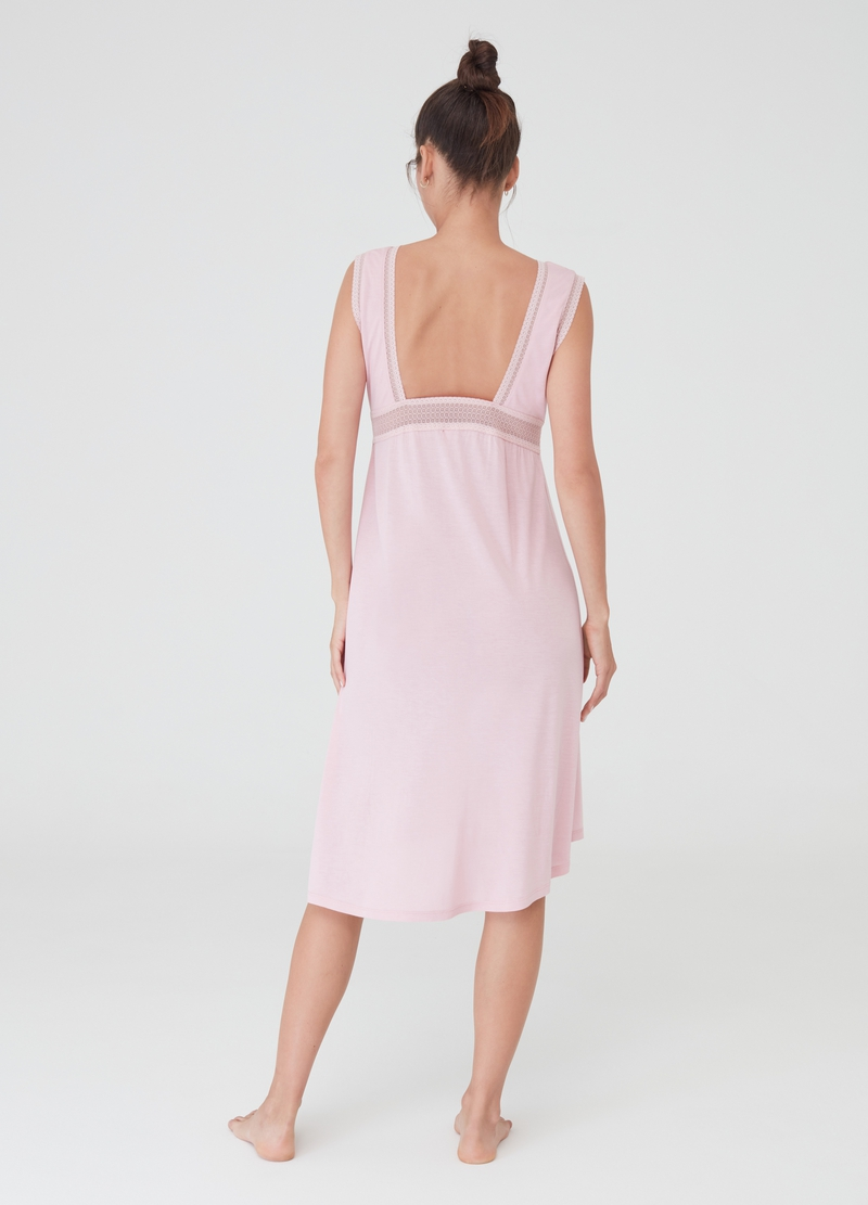 Sleeveless nightdress with bow image number null