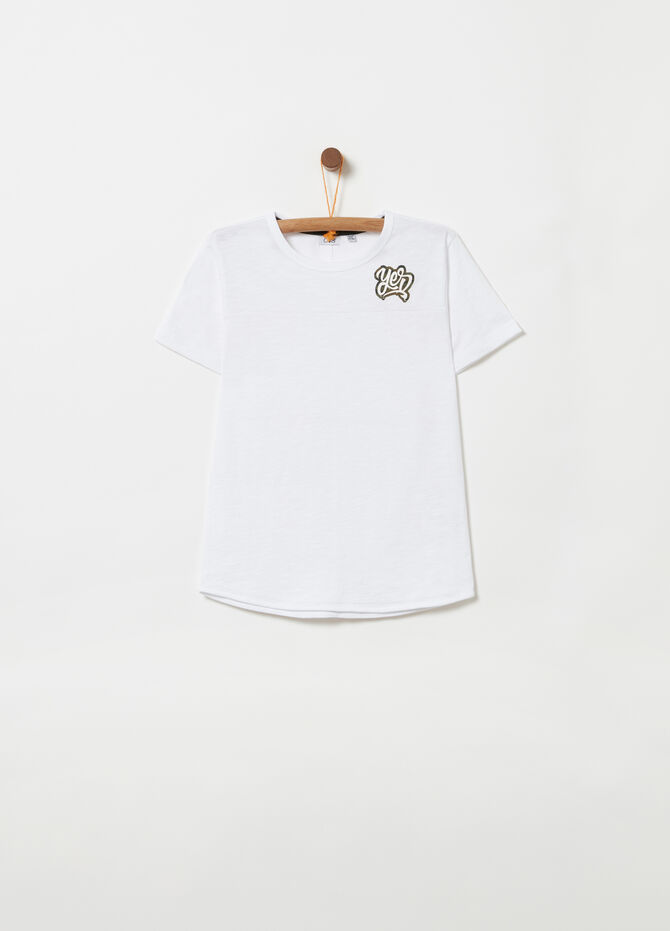 T-shirt with camouflage lettering print