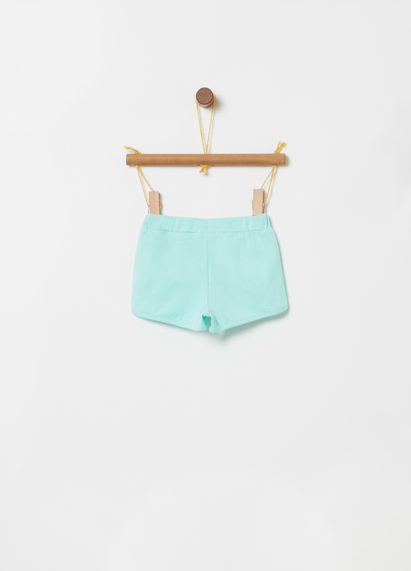 Shorts in biocotton stretch ricami floreali image number null