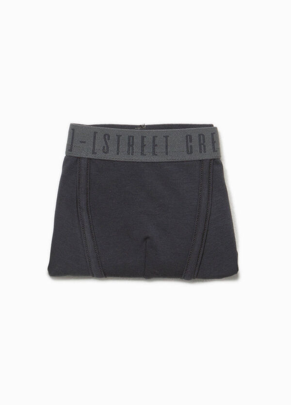 Organic cotton boxers with lettering print | OVS