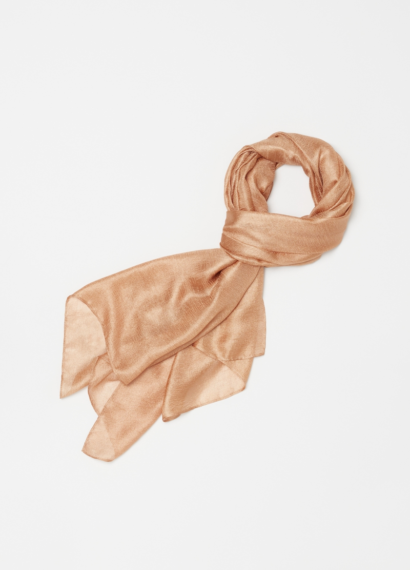 Solid colour satin-effect pashmina image number null