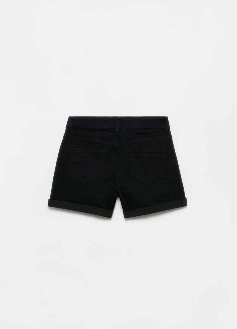 Stretch denim shorts with five pockets image number null