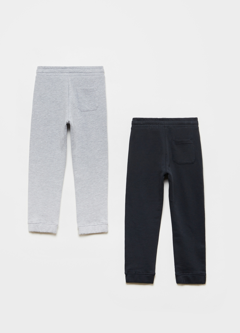 Bipack joggers in French Terry con tasca image number null