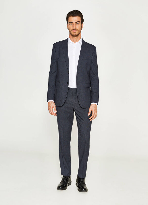 Regular-fit suit in viscose with micro pattern | OVS