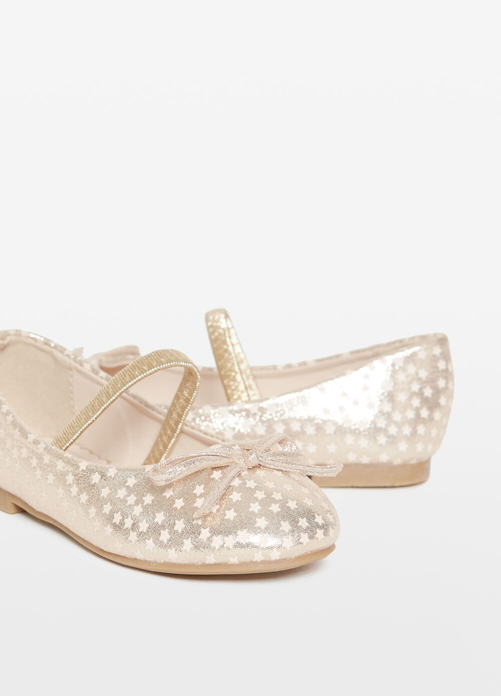Glitter flats with star pattern