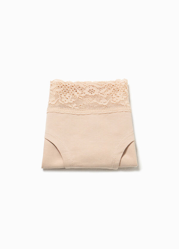 Cotton French knickers with lace | OVS