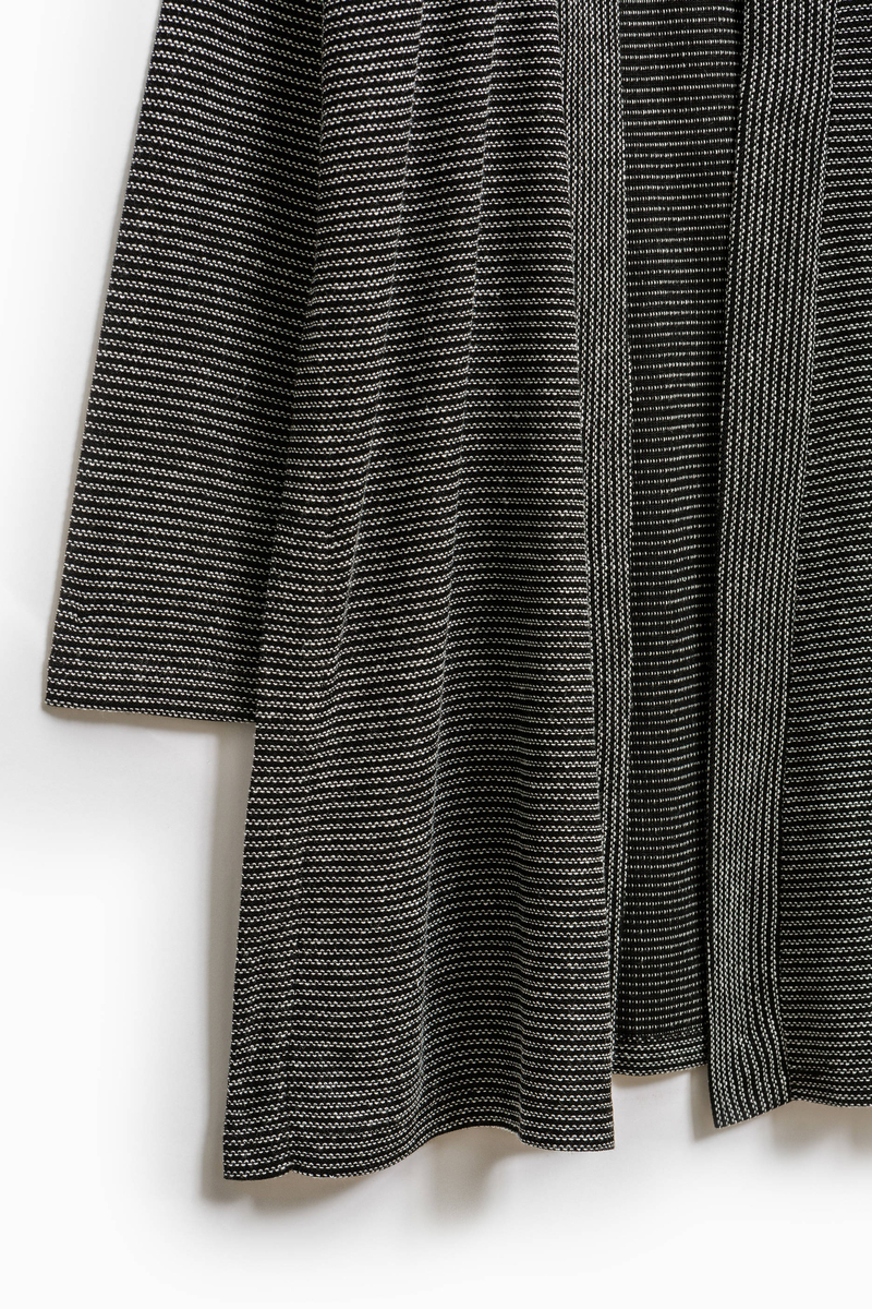 Smart Basic long striped cardigan image number null