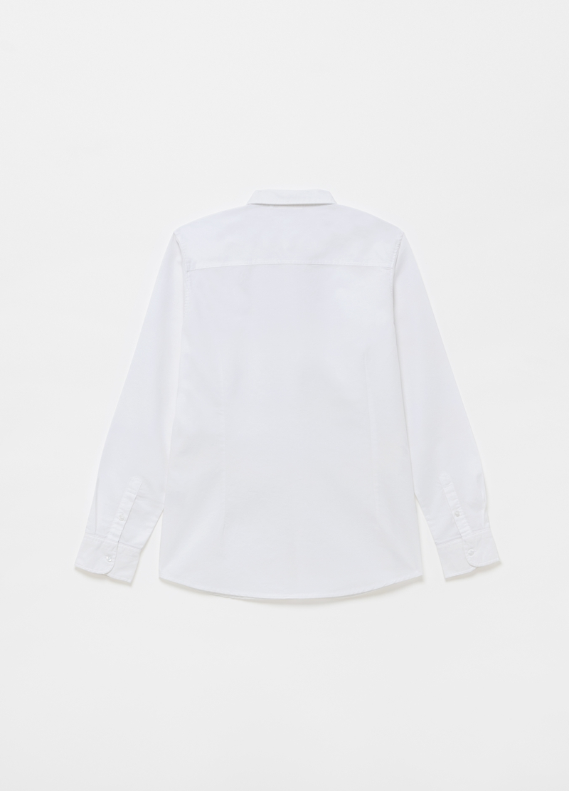 100% cotton shirt with button down collar image number null