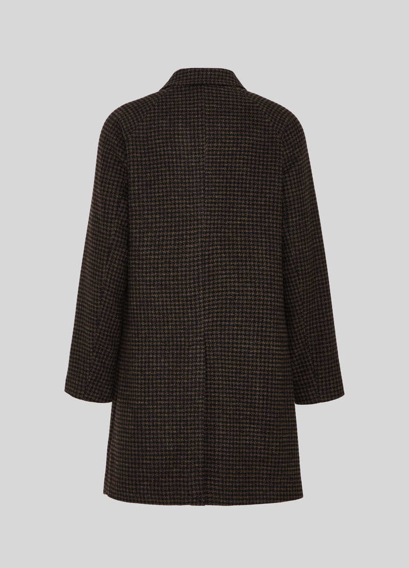 PIOMBO hounds' tooth coat in wool blend image number null