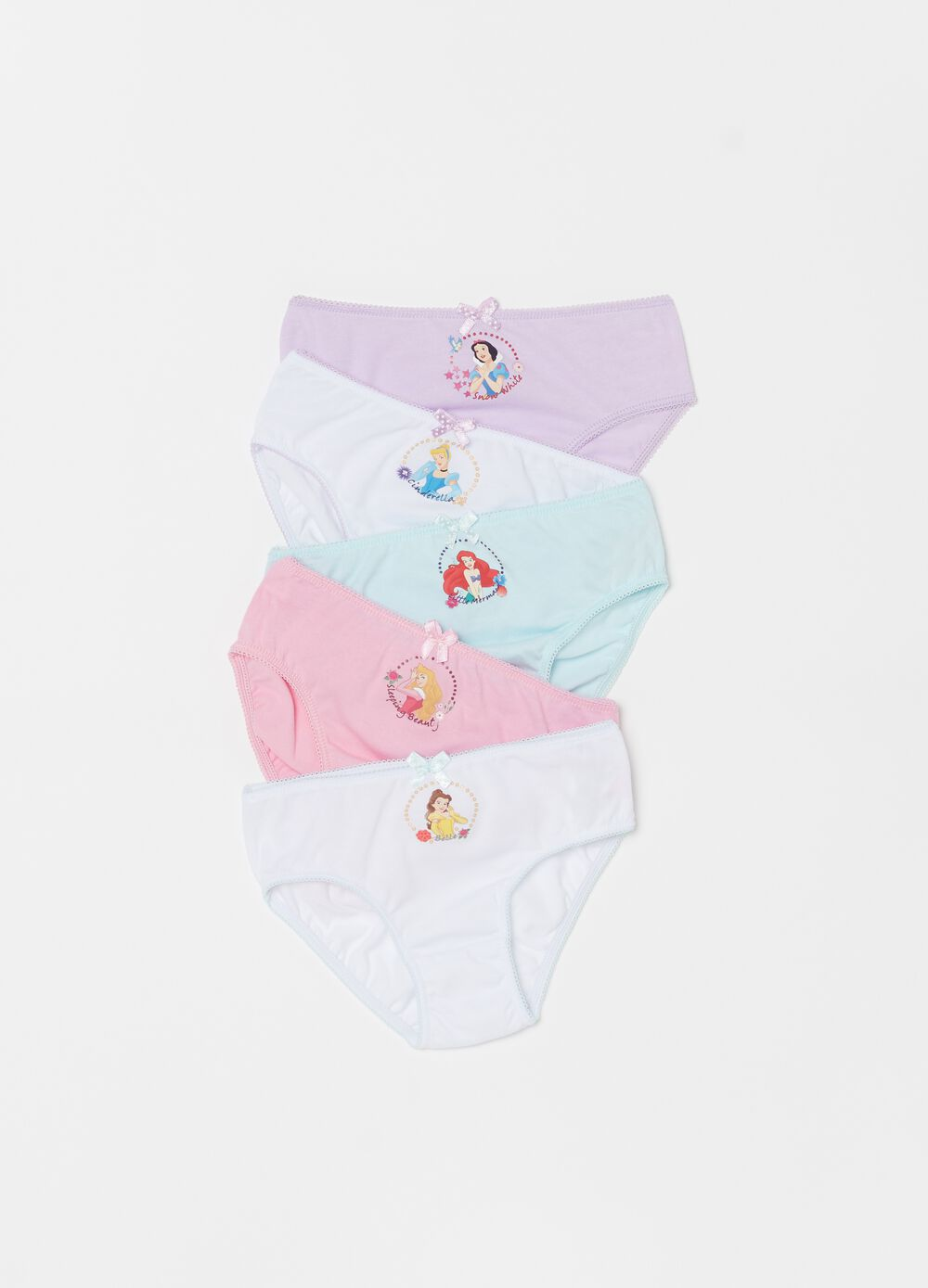 Five-pack Disney organic cotton briefs
