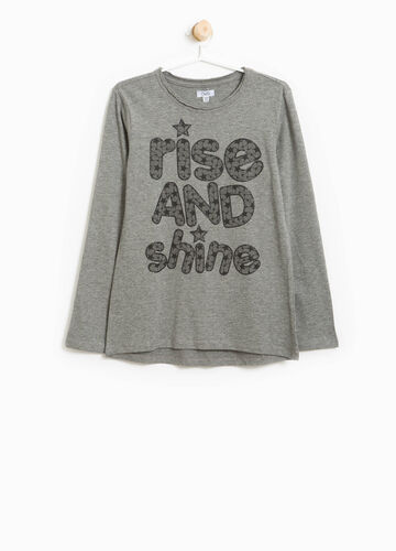 T-shirt cotone con stampa lettering
