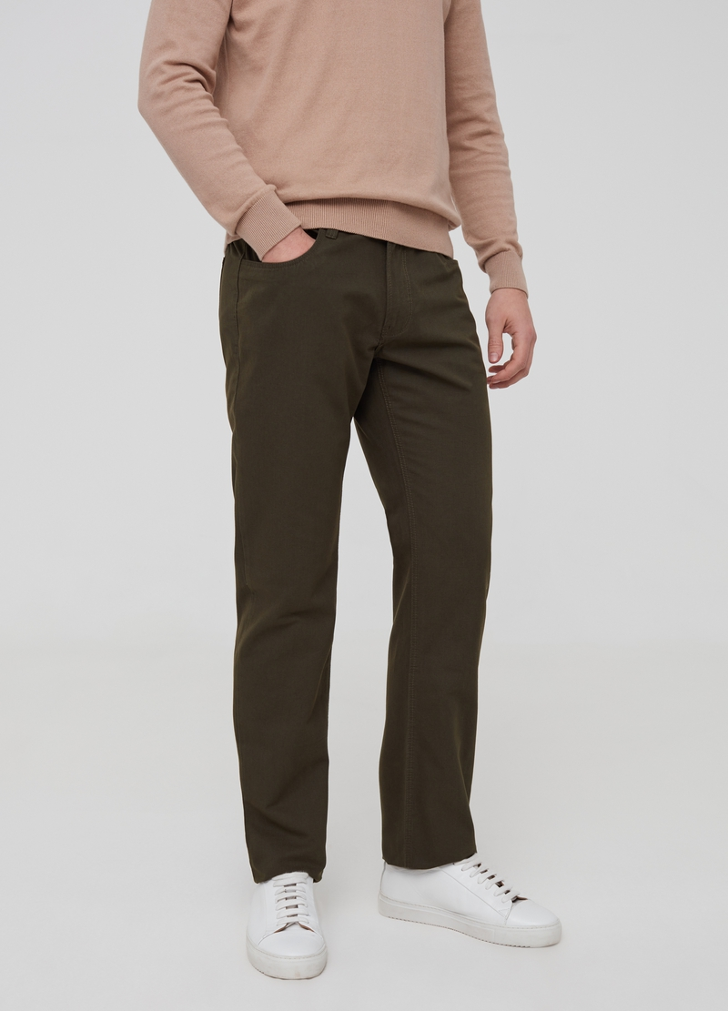 Regular-fit trousers with five pockets image number null
