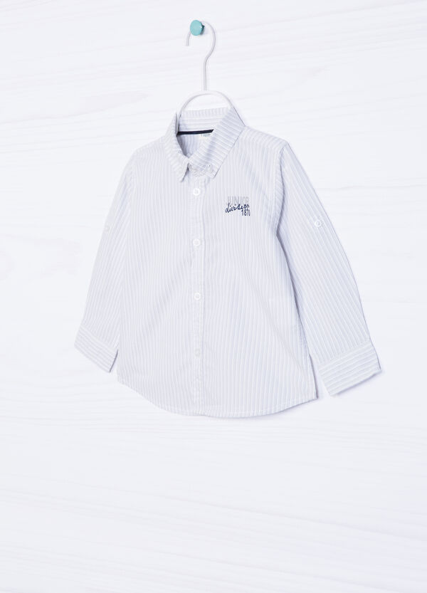 100% cotton shirt with button-down collar. | OVS