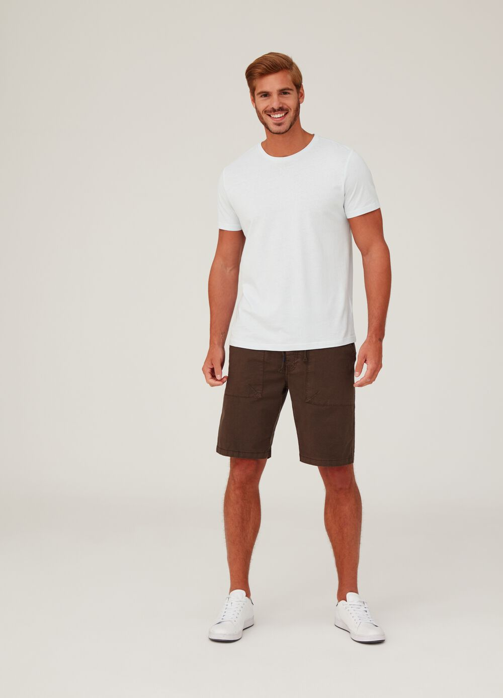 Shorts regular fit stretch coulisse e tasche