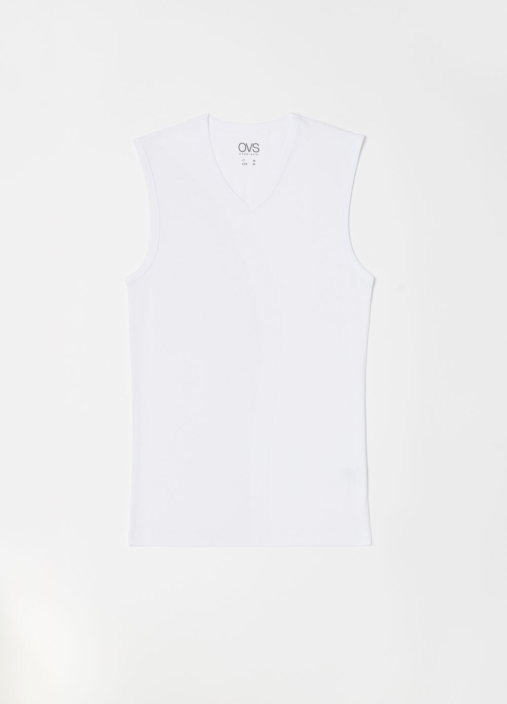 V-neck vest in 100% cotton
