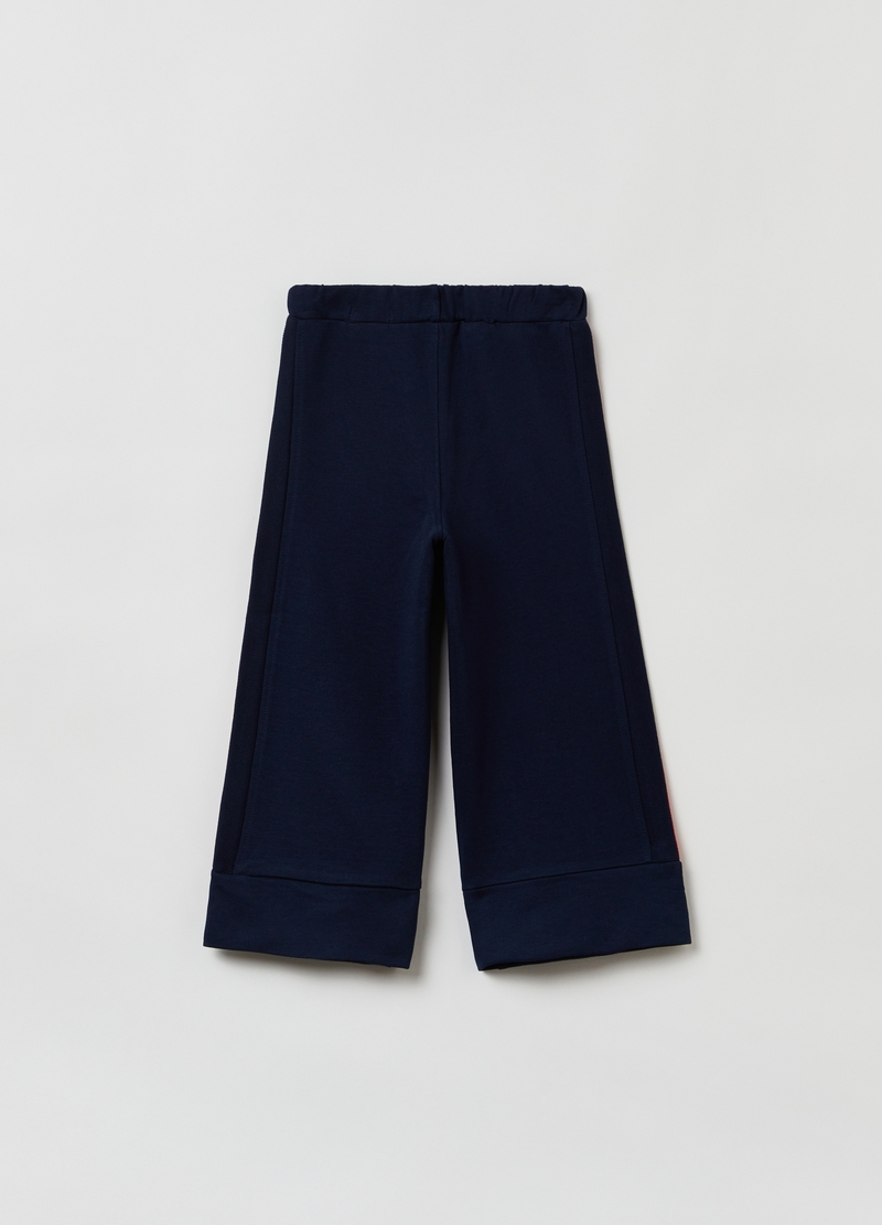 Pantaloni cropped in French Terry image number null