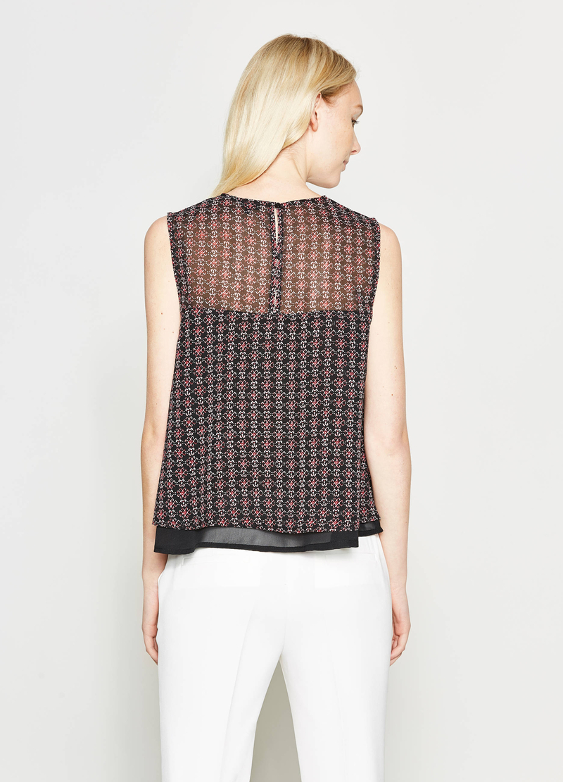 Patterned sleeveless blouse image number null