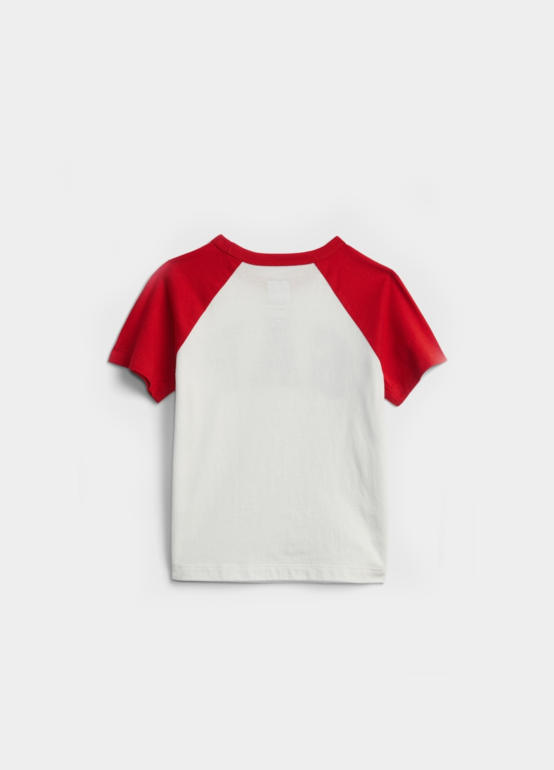 GAP T-shirt with raglan sleeves and print image number null