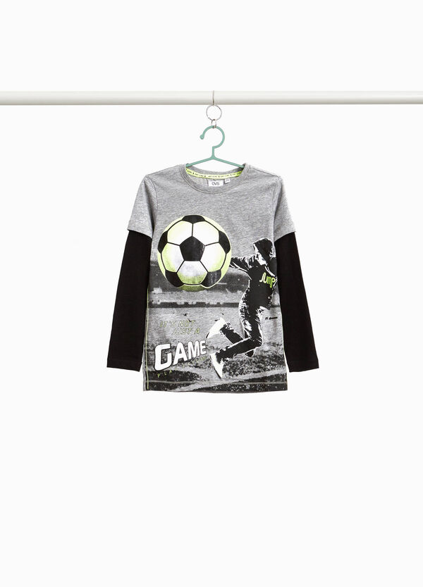 T-shirt with maxi footballer print