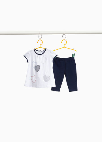 Diamanté T-shirt and trousers outfit