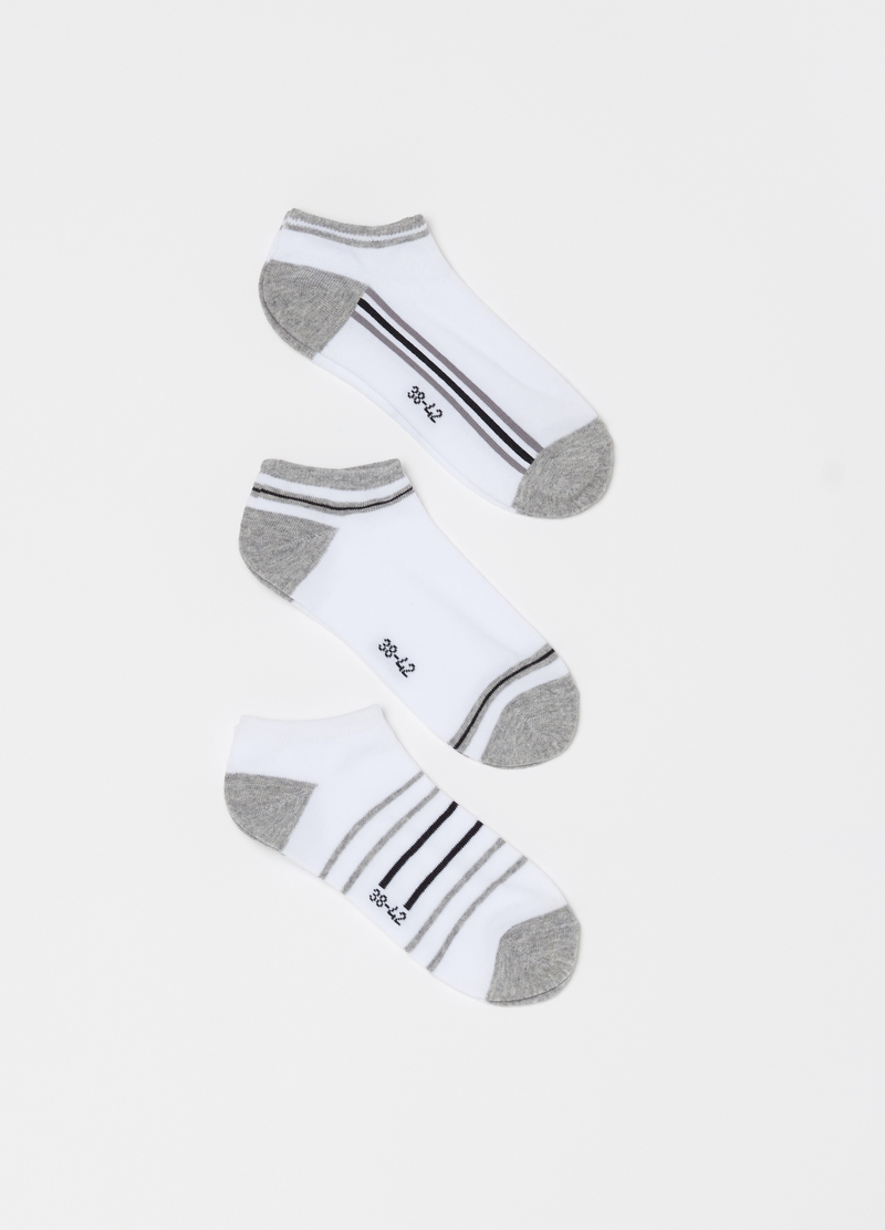 Three-pack short two-tone stretch socks image number null