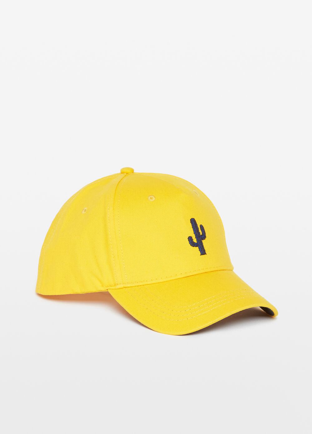 Baseball cap with embroidered cactus