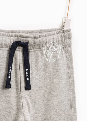Joggers with drawstring and print