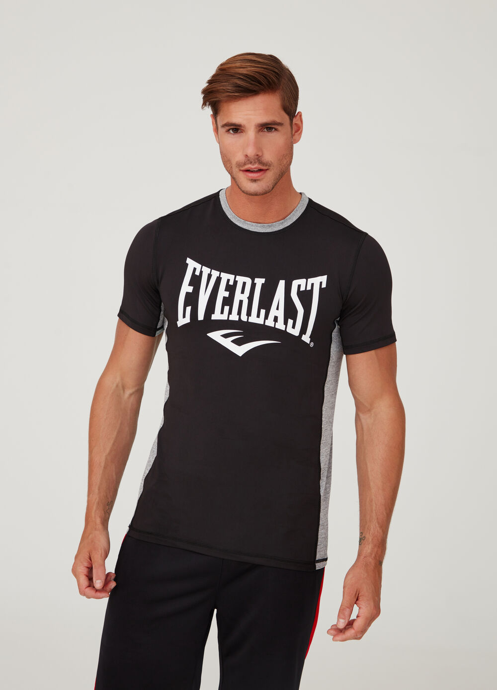 Everlast stretch T-shirt with bands