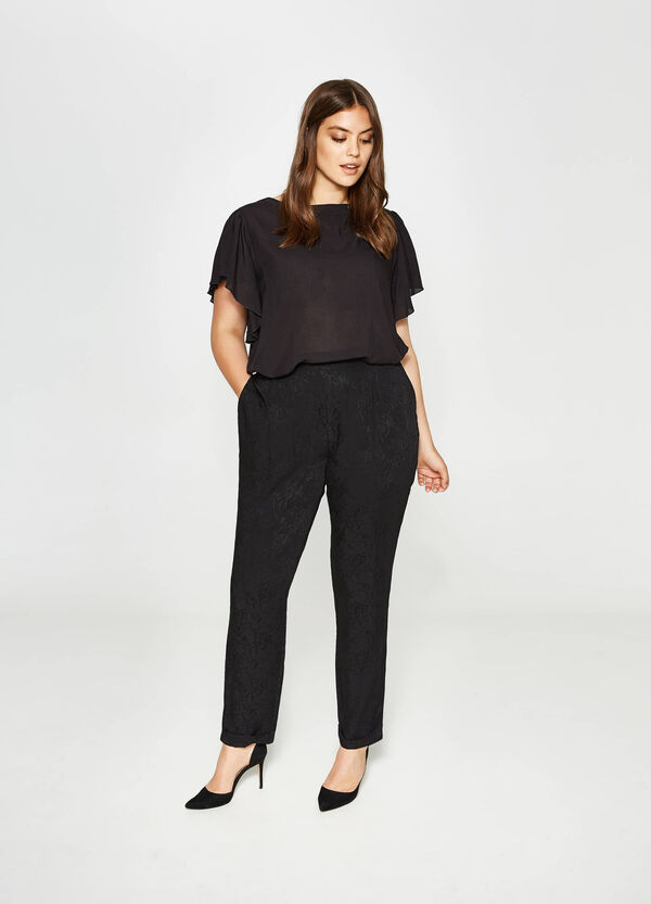Pantalone relaxed fit floreale Curvy | OVS