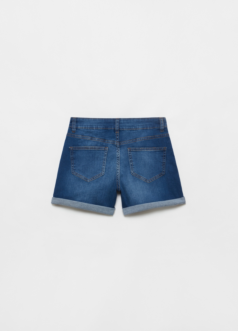 Shorts in denim stretch cinque tasche image number null