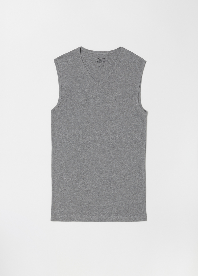 V-neck mélange under vest image number null