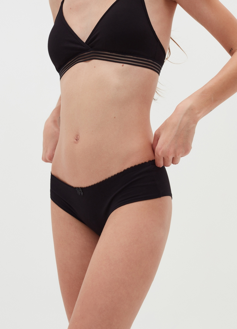Bipack culotte in cotone stretch image number null