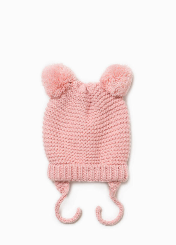 Hat with pompom and ear flaps. | OVS