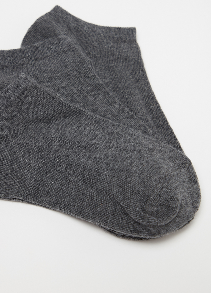 Three-pair pack stretch ankle socks with ribbing image number null