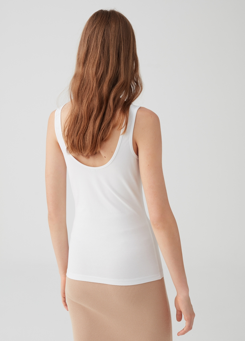 Top regular fit in cotone stretch image number null