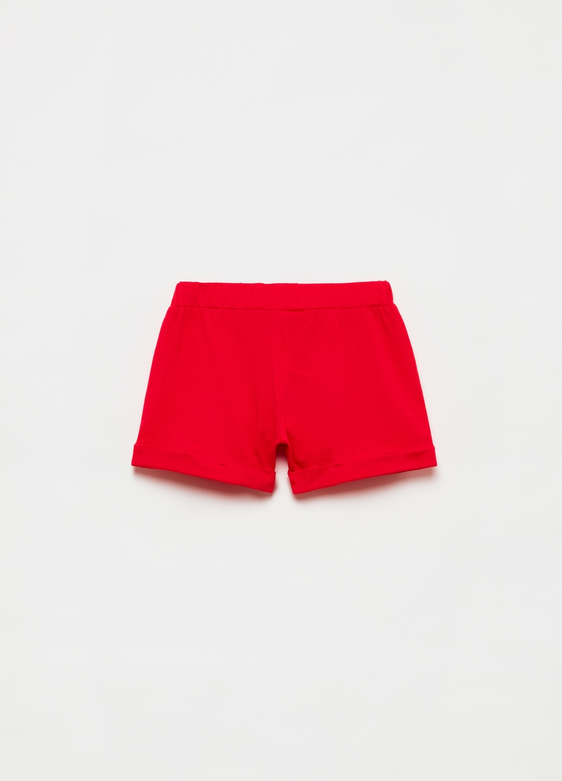 Shorts with broderie anglaise insert image number null
